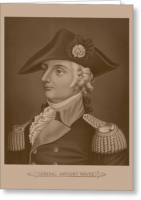 Patriots Mixed Media Greeting Cards - Mad Anthony Wayne Greeting Card by War Is Hell Store