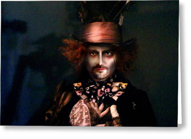 Mad Hatter Greeting Card by Alessandro Della Pietra