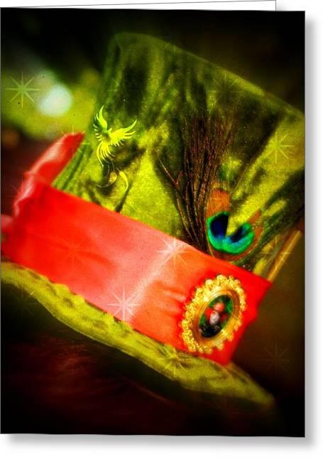 Mad Hatter Greeting Cards - Mad Hatter Greeting Card by Amanda Eberly-Kudamik