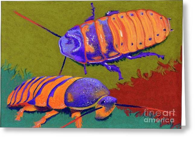 Roach Greeting Cards - Madagascar Hissers Greeting Card by Tracy L Teeter
