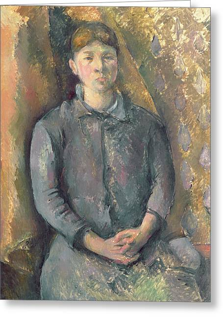 Madame Greeting Cards - Madame Cezanne Greeting Card by Paul Cezanne