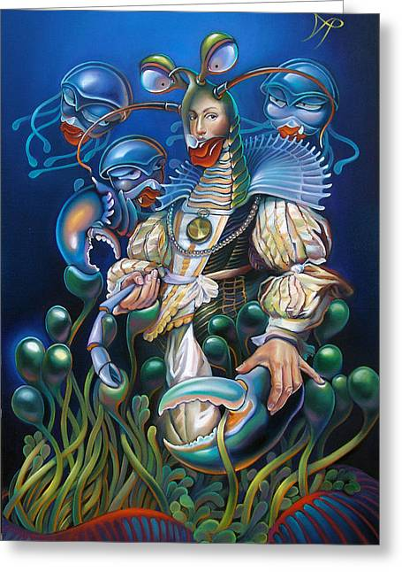 Sea Life Greeting Cards - Madame Clawdia dBouclier from Mask of the Ancient Mariner Greeting Card by Patrick Anthony Pierson