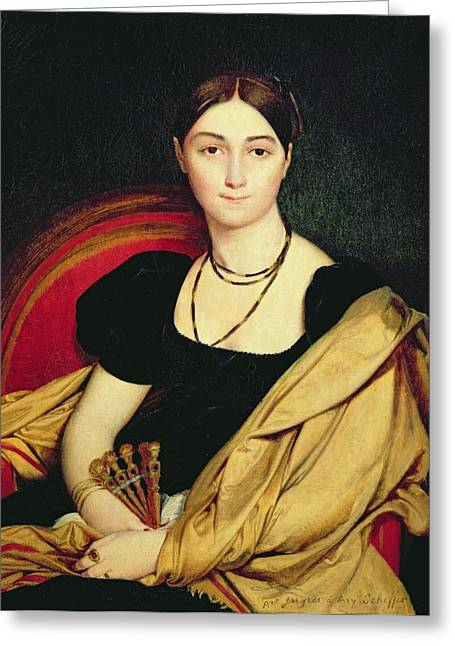 Wrap Dress Greeting Cards - Madame Devaucay Greeting Card by Jean Auguste Dominique Ingres