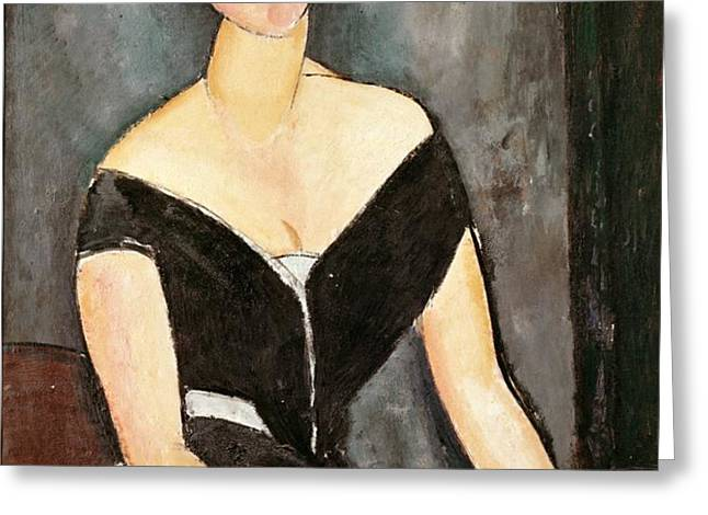 Madame G van Muyden Greeting Card by Amedeo Modigliani