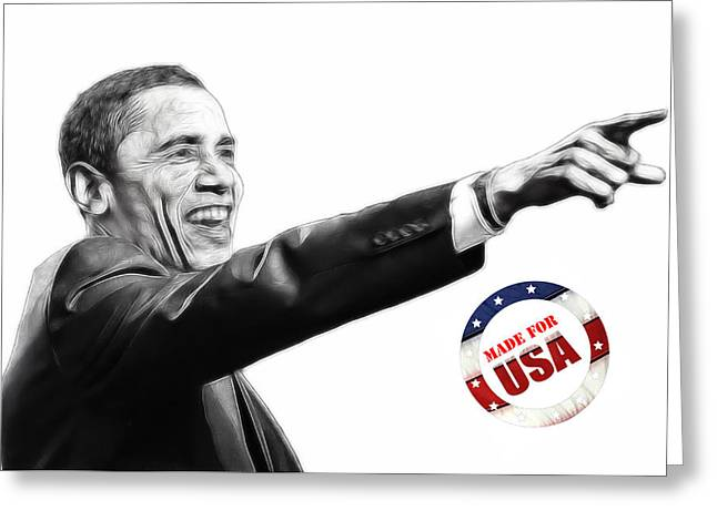 Barack Digital Art Greeting Cards - Made for USA Greeting Card by Stefan Kuhn