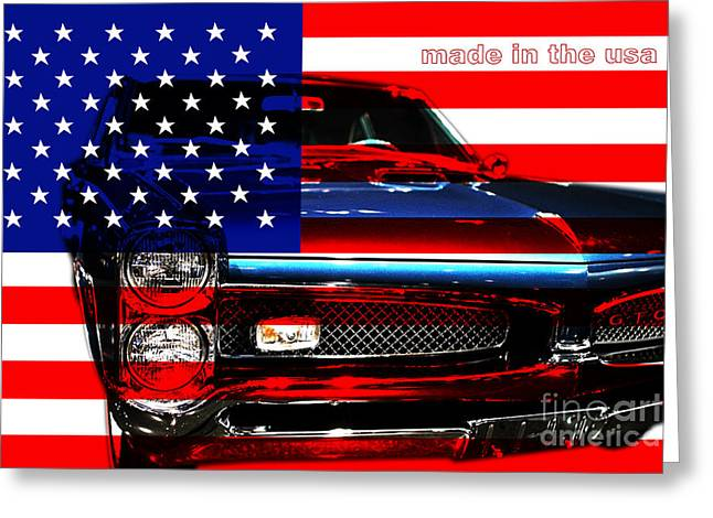 Made In The USA . Pontiac GTO Greeting Card by Wingsdomain Art and Photography
