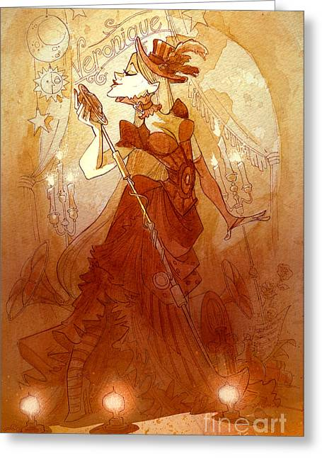 Singer Paintings Greeting Cards - MADemoiselle Veronique Greeting Card by Brian Kesinger