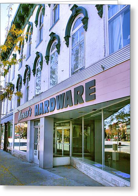 Indiana Photography Greeting Cards - Madison Shops I Greeting Card by Steven Ainsworth