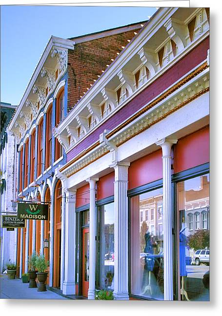 Indiana Photography Greeting Cards - Madison Shops II Greeting Card by Steven Ainsworth