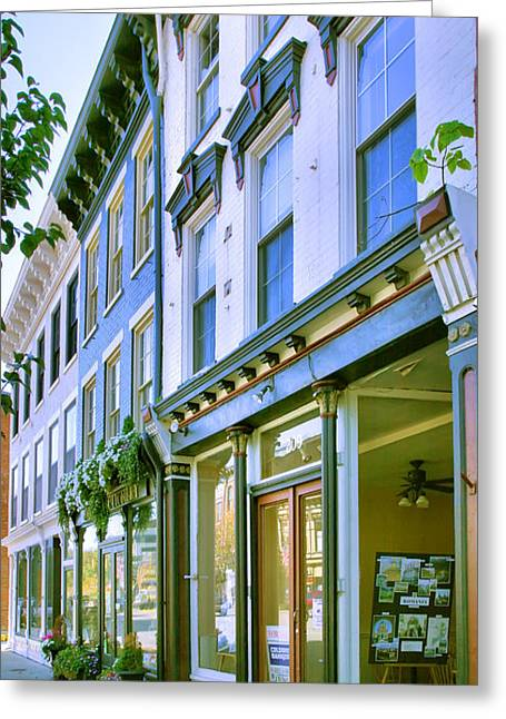 Indiana Photography Greeting Cards - Madison Shops III Greeting Card by Steven Ainsworth