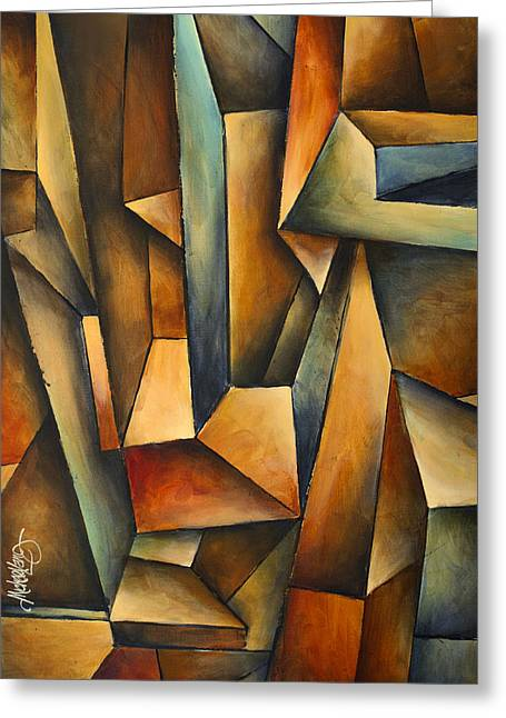 Geometric Design Greeting Cards - madness Greeting Card by Michael Lang