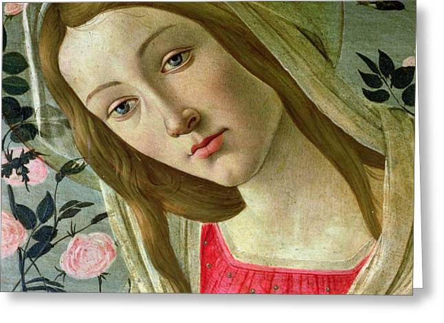 Madonna and Child Crowned by Angels Greeting Card by Sandro Botticelli