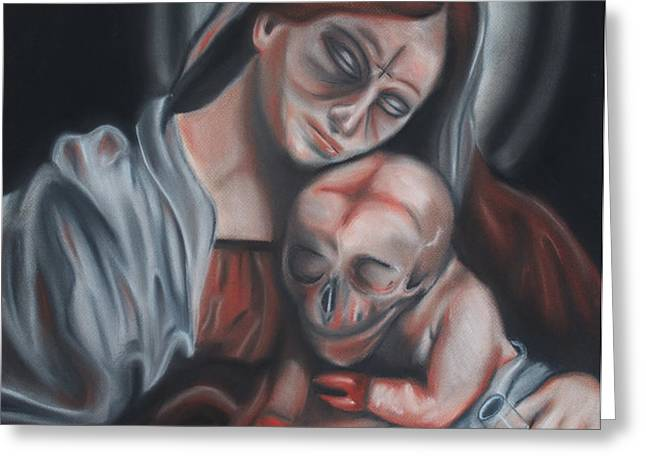 Madonna and Child Greeting Card by Joe Dragt