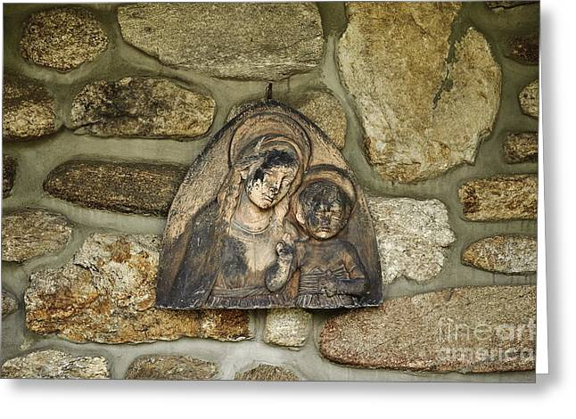 Blessed Mother Greeting Cards - Madonna and Child Greeting Card by John Greim