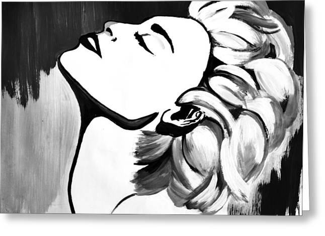Ambition Drawings Greeting Cards - Madonna Greeting Card by Cat Jackson