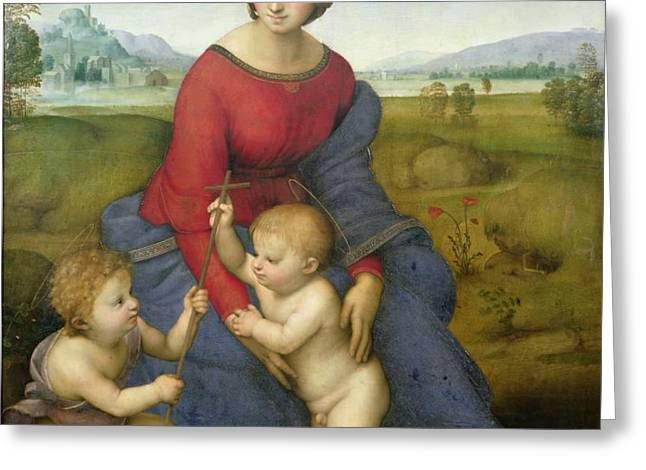 Madonna in the Meadow Greeting Card by Raphael