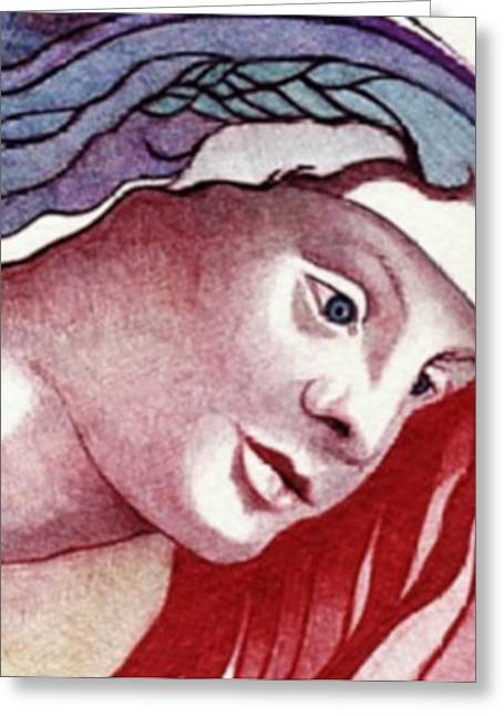 Pen And Ink Drawing Greeting Cards - Madonna Greeting Card by Jerry  Stith