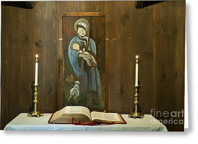 Blessed Mother Greeting Cards - Madonna Greeting Card by John Greim