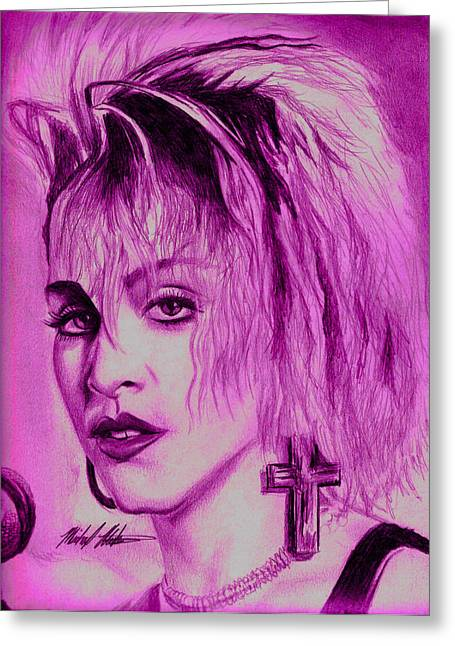 Madonna Greeting Card by Michael Mestas