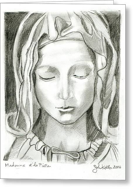 Michaelangelo Greeting Cards - Madonna Of The Pieta Greeting Card by John Keaton