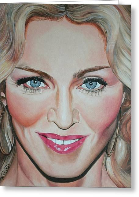 Portraits By Timothe Greeting Cards - Madonna Greeting Card by Timothe Winstead