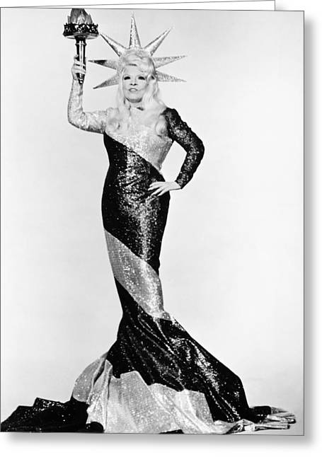 Statue Portrait Greeting Cards - Mae West (1892-1980) Greeting Card by Granger