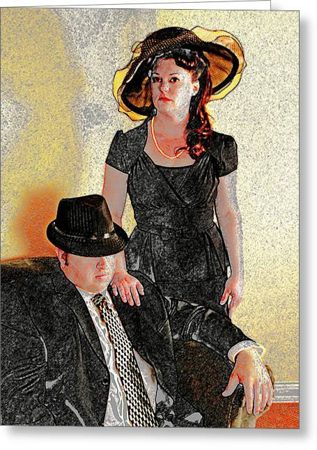 Caucasion Greeting Cards - Mafioso Greeting Card by Charles Benavidez
