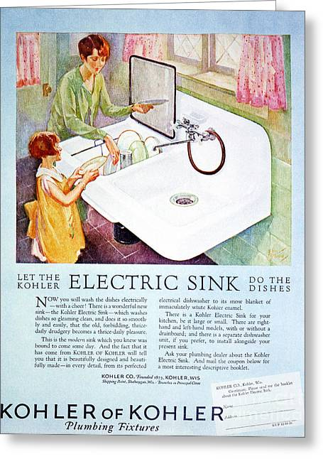 Early Sink Greeting Cards - Magazine Ad, 1926 Greeting Card by Granger