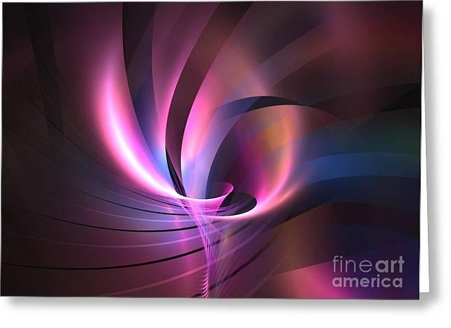 Floral Digital Art Digital Art Greeting Cards - Magellan Greeting Card by Kim Sy Ok