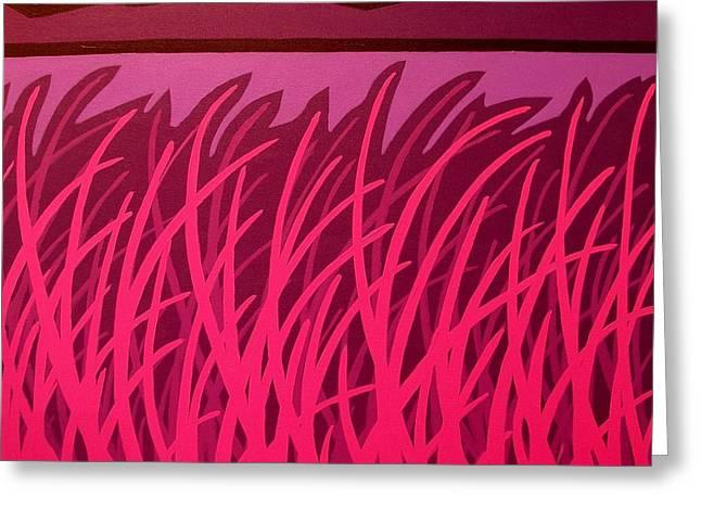 Layers Greeting Cards - Magenta Cornfield  Greeting Card by John  Nolan