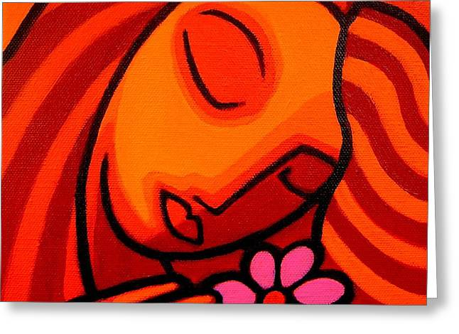 Wishes Greeting Cards - Magenta Flower Greeting Card by John  Nolan