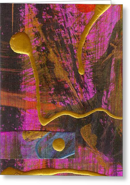Religious Mixed Media Greeting Cards - Magenta Joy Greeting Card by Angela L Walker