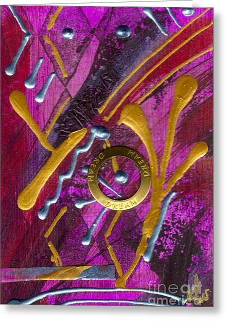 Grettings Greeting Cards - Magenta Joy Dreams Greeting Card by Angela L Walker