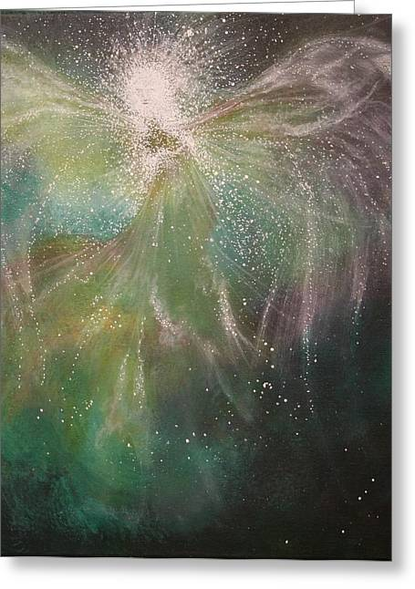 Spirtual Greeting Cards - Magestic Greeting Card by Energy print by Naomi Walker