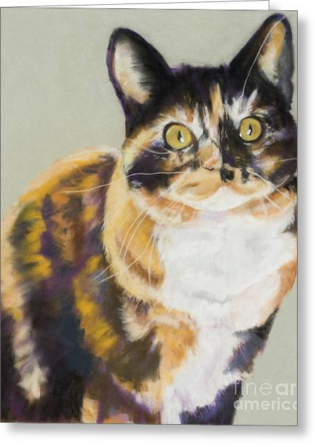 Pet Portraits Pastels Greeting Cards - Maggie Mae Greeting Card by Pat Saunders-White