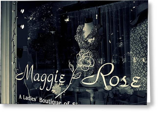 Store Fronts Greeting Cards - Maggie Rose Greeting Card by Wendy Mogul