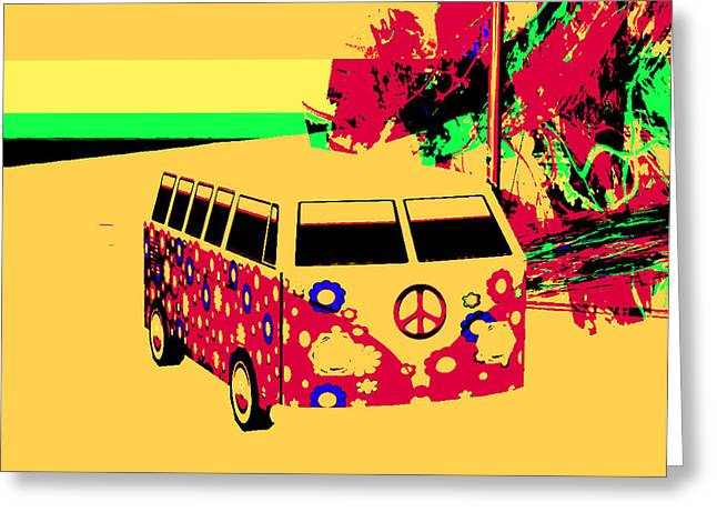 Magic Bus Greeting Cards - Magic Bus to Jamaica Greeting Card by Phil Strang