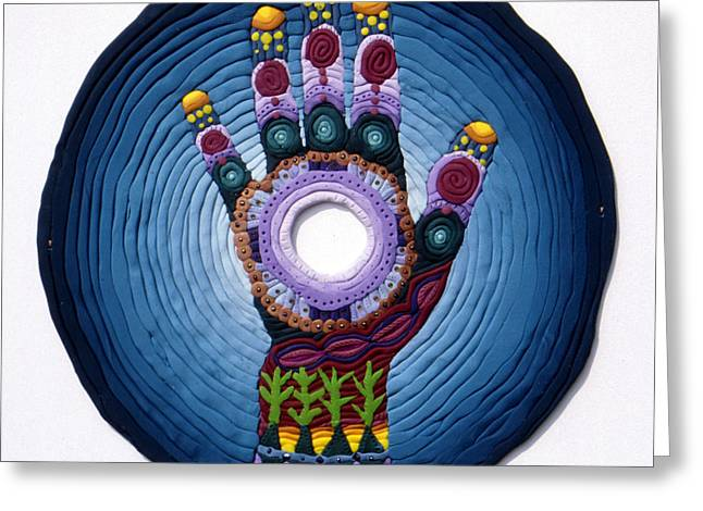 Magic Hand Greeting Card by Arla Patch