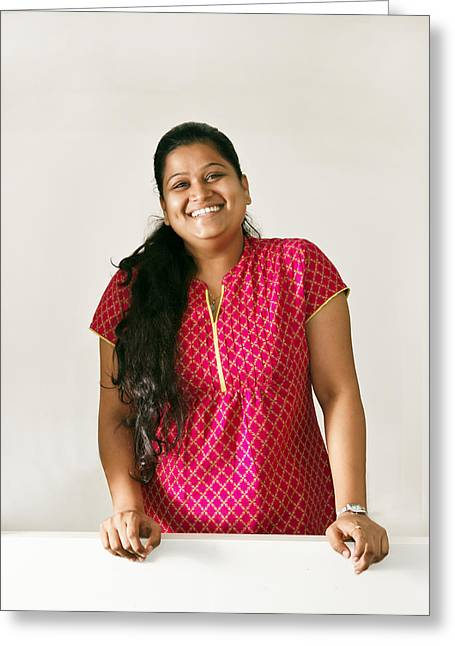 Without Content Greeting Cards - Magic Smile Eastern Beauty Greeting Card by Kantilal Patel