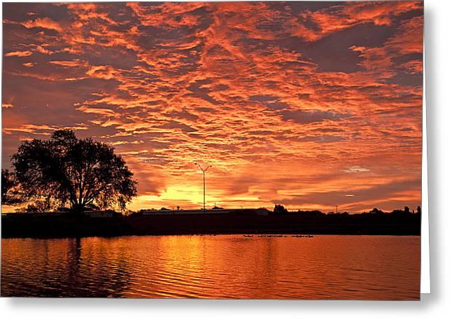 Magic Sunrise Greeting Card by Melany Sarafis