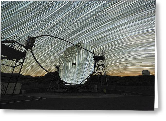 Magic Time Greeting Cards - Magic Telescope And Star Trails Greeting Card by Alex Cherney, Terrastro.com