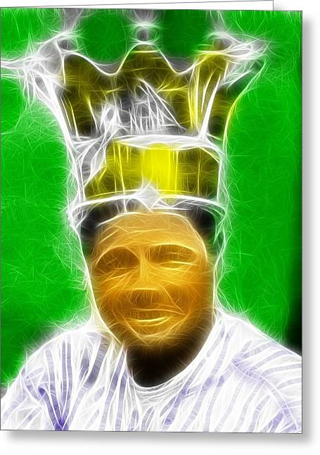 Ny Yankees Drawings Greeting Cards - Magical Babe Ruth Greeting Card by Paul Van Scott