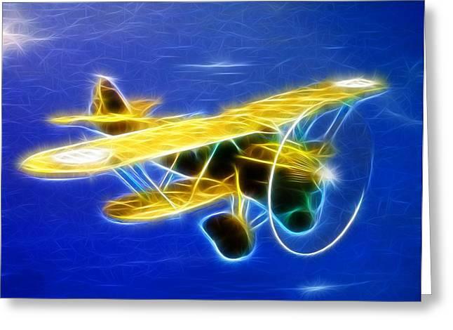 Barnstormer Greeting Cards - Magical Biplane Greeting Card by Paul Van Scott