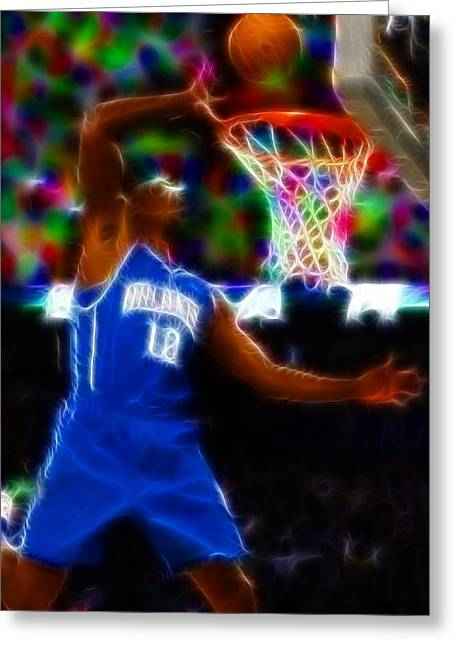 Slam Drawings Greeting Cards - Magical Dwight Howard Greeting Card by Paul Van Scott