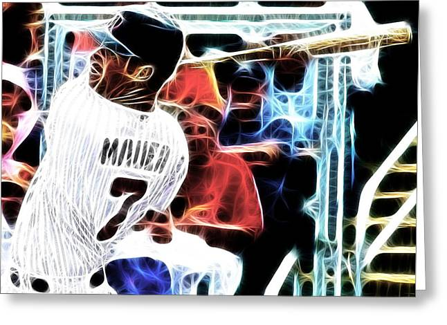Magical Joe Mauer Greeting Card by Paul Van Scott