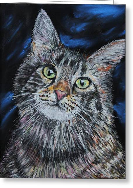 Kitten Pastel Kitten Greeting Cards - Magical Mr. Mistoffelees Greeting Card by Mike Paget