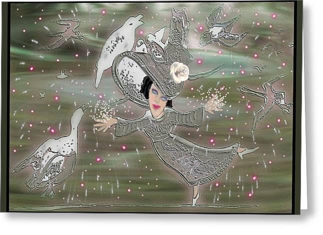 Fun Greeting Cards - Magical Nature Greeting Card by Tisha McGee