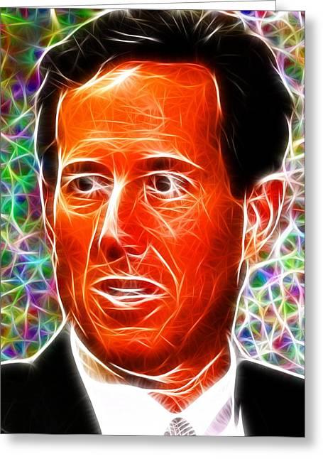 2012 Presidential Election Greeting Cards - Magical Rick Santorum Greeting Card by Paul Van Scott