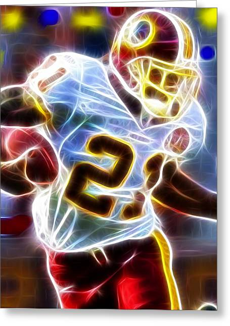 Football Player Greeting Cards - Magical Sean Taylor Greeting Card by Paul Van Scott