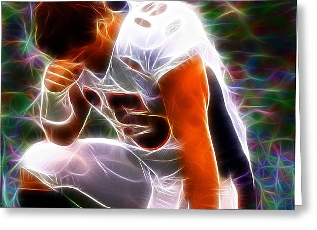 Tebow Greeting Cards - Magical Tebowing Greeting Card by Paul Van Scott